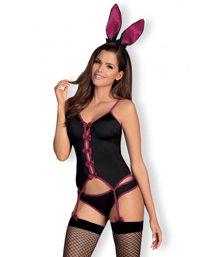 Bunny Costume modulable 4 pcs - Noir