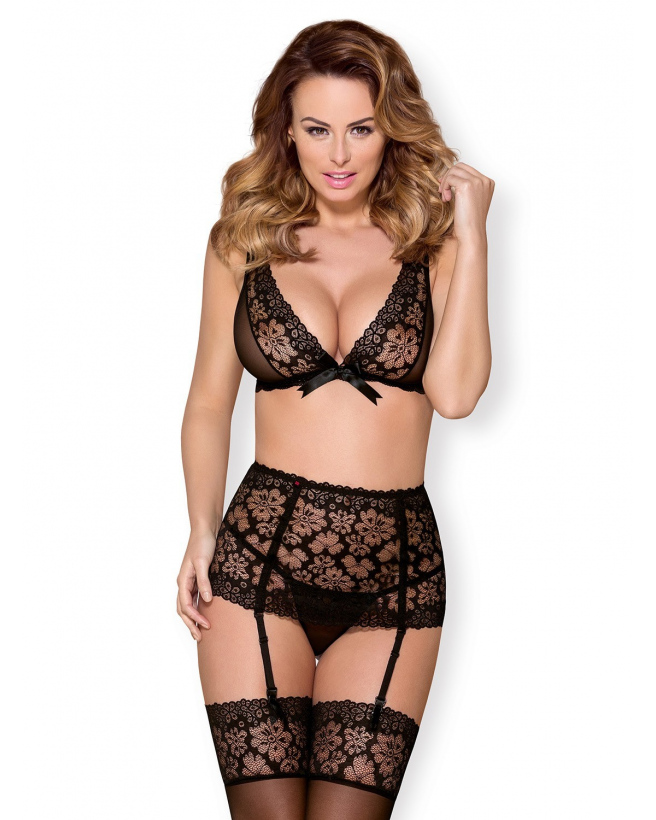 856-SEG-1 Ensemble 3 pcs - Noir